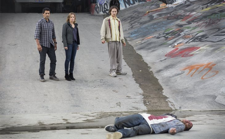 Travis, Madison y Nick en la primera temporada de 'Fear The Walking Dead'