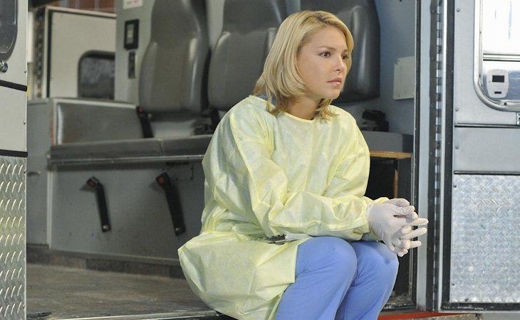 Katherine Heigl como Izzie Stevens en 'Anatomía de Grey'