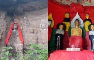 China tiene su peculiar versión del Ecce Homo tras la restauración de un santuario budista