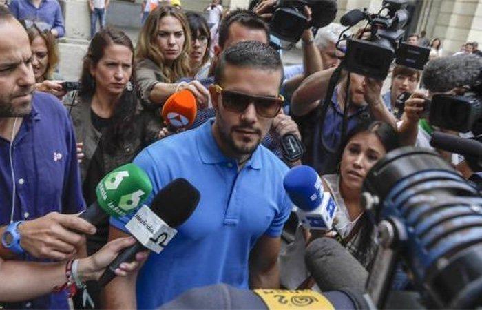 Ángel Boza a la salida de los Juzgados de Sevilla