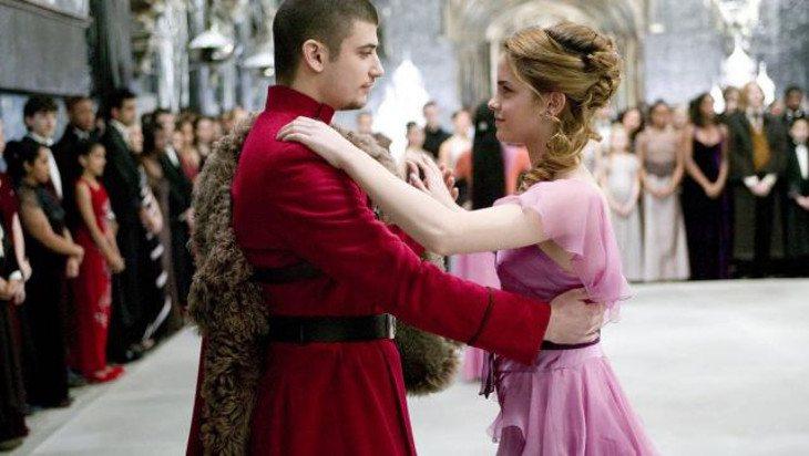 Hermione y Krum