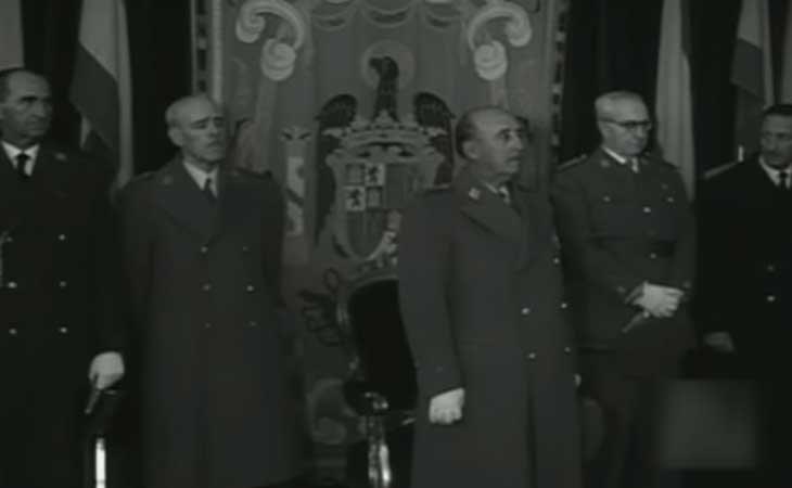 Franco en la inaguración del Centro Nacional de Enegía Nuclear de Juan Vigón