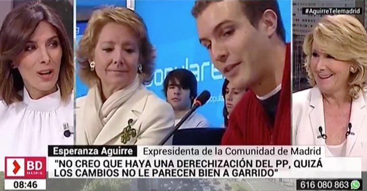 Aguirre ha negado que la llegada de Pablo Casado a la presidencia del PP suponga un giro hacia la derecha en el PP