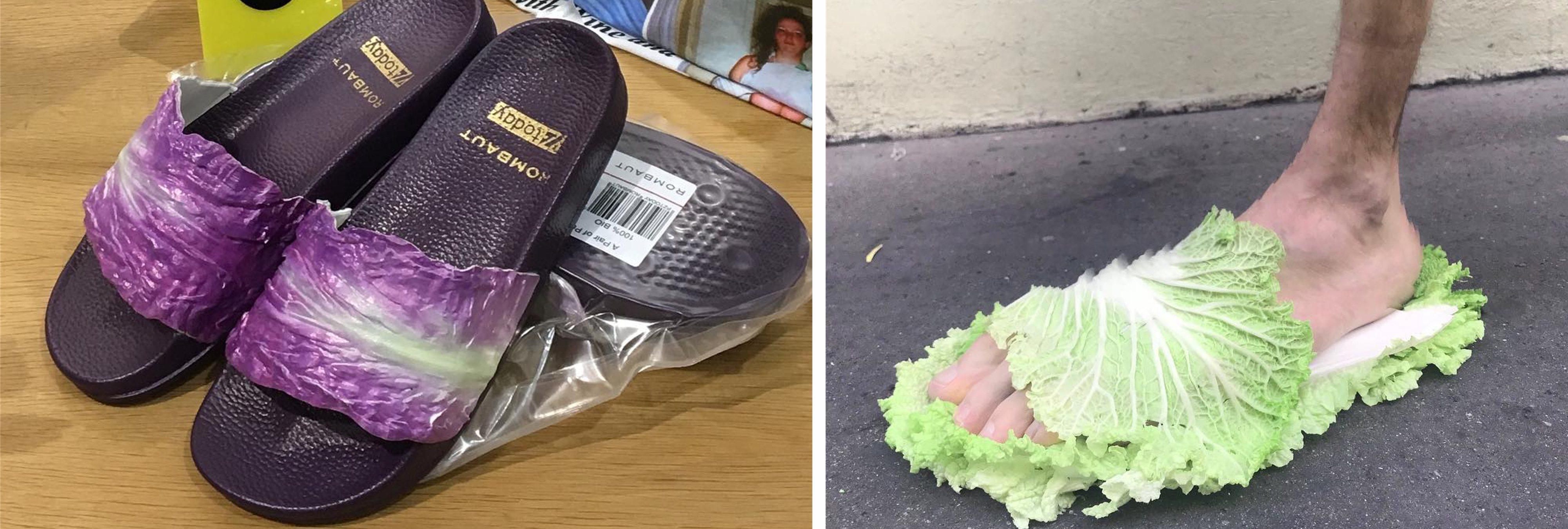 Zapatillas de lechuga a 105 euros: la nueva moda que causa furor