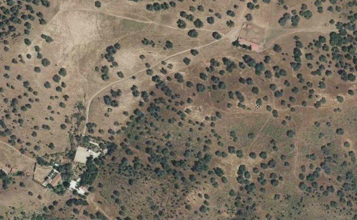 Imagen aérea de la finca Los Camochos