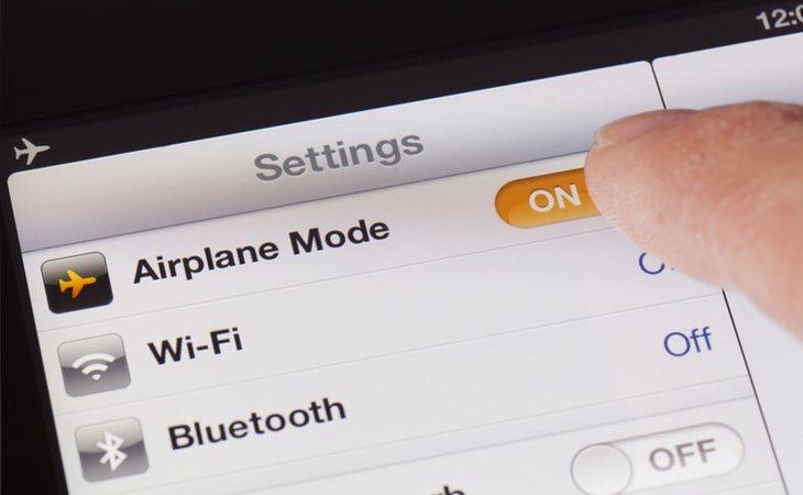 El modo avión en los ajustes del móvil