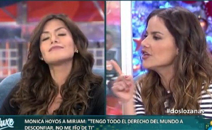 Hoyos y Saavedra durante uno de sus enfrentamientos televisivos antes de entrar en GHVIP