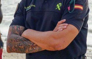 Vetado el acceso a la Guardia Civil a un hombre con tatuajes nazis