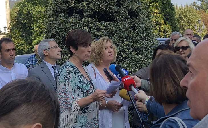 La alcaldesa Ana Díaz ante los medios de comunicaci´ón