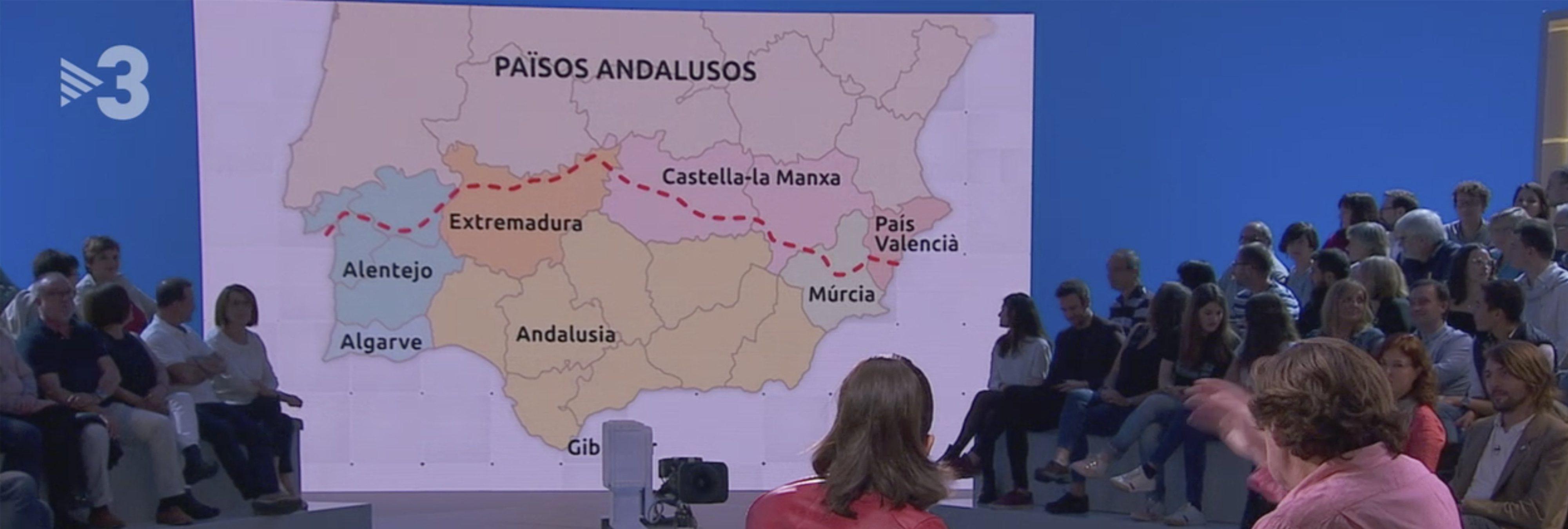 """TV3 reivindica los 'Países Andaluces': """"De Badajoz hacia abajo, hablamos todos igual"""""""
