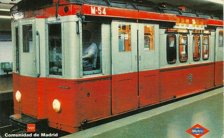 Los trenes originales del Metro de Madrid circularon hasta la década de 1990