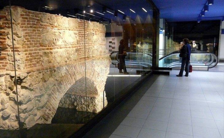 El Metro alberga restos del Acueducto de Amaniel, del siglo XVII