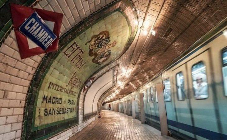 La estación de Chamberí guarda la disposición original