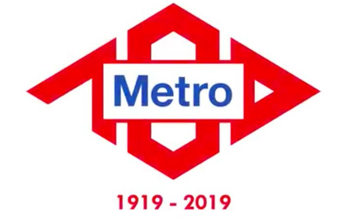 Logo del Metro de Madrid por el centenario