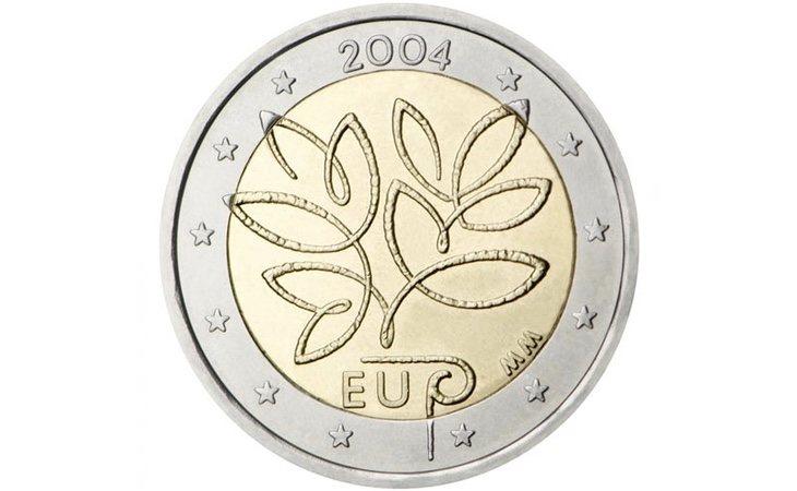 La conmemoración de la ampliación de la UE es el motivo que protagoniza esta moneda de Finlandia