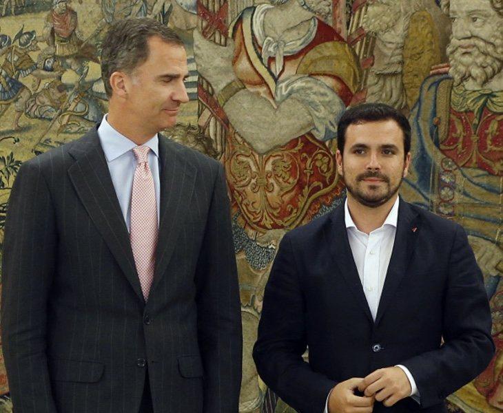 El Rey Felipe VI y Alberto Garzón