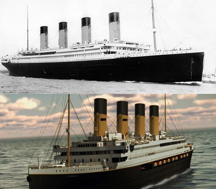 El barco de 1912 y el que zarpará en 2022
