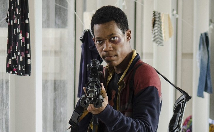 Tyler James Williams como Noah en 'The Walking Dead'