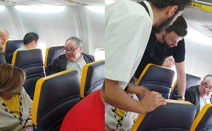 Imágenes del araque racista de Ryanair