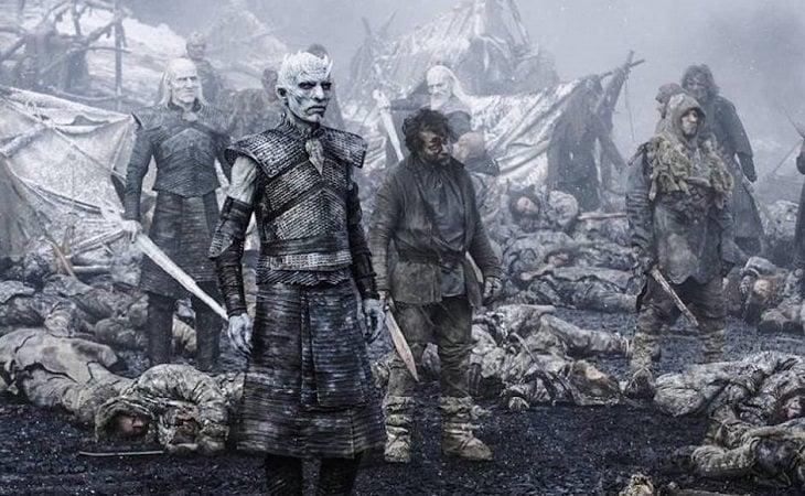 Algunos de los caminantes blancos de 'Juego de tronos'