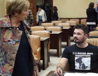 """Gabriel Rufián, a Celia Villalobos: """"Tranquila, que ya te queda poco"""""""
