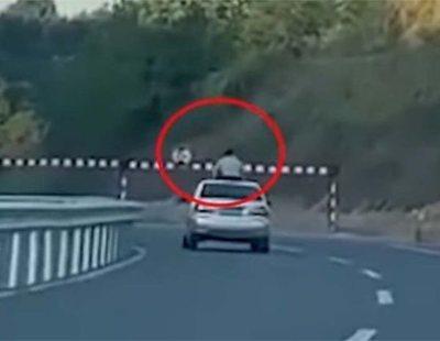 Muere un niño decapitado tras viajar en el techo e impactar contra una señal de tráfico