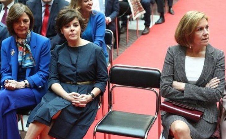 Cospedal y Soraya escenificaron su desencuentro dos días después de la caída de Cifuentes