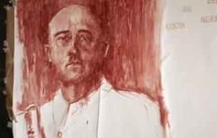 Un artista usa su propia sangre para retratar a Franco