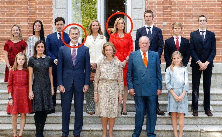 El Rey Felipe ha permitido que la Infanta Cristina vuelva a escenificar su pertenencia a la Familia Real