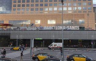 Falsa amenaza de bomba en la estación de Sants en Barcelona
