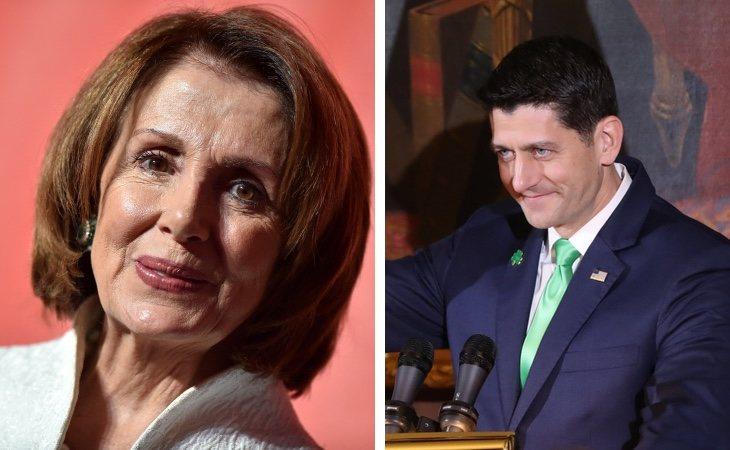 Nancy Pelosi y Paul Ryan