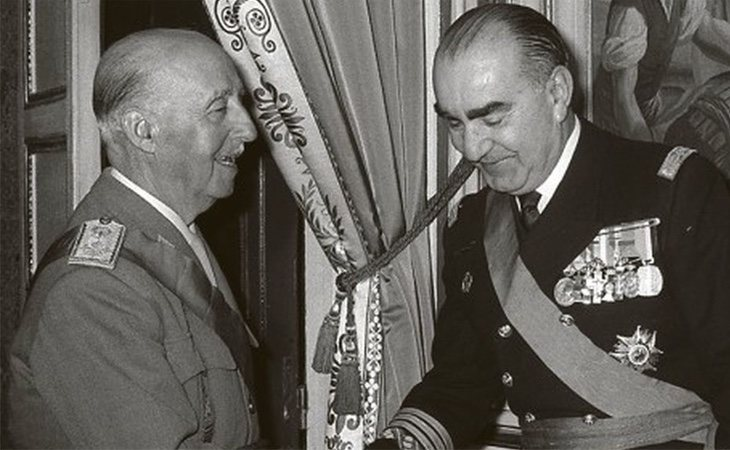 Carrero Blanco con Francisco Franco