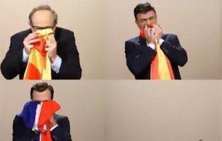 TV3 defiende a Dani Mateo con un sketch de presidentes sonándose mocos con sus banderas