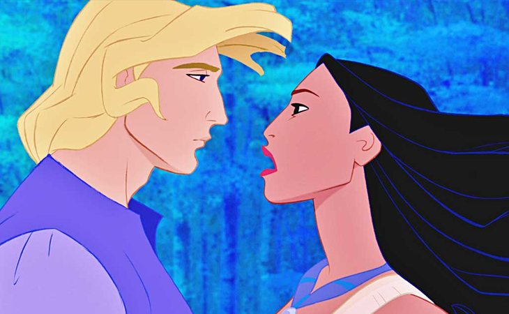 Pocahontas y John Smith, de las pocas parejas interraciales de Disney
