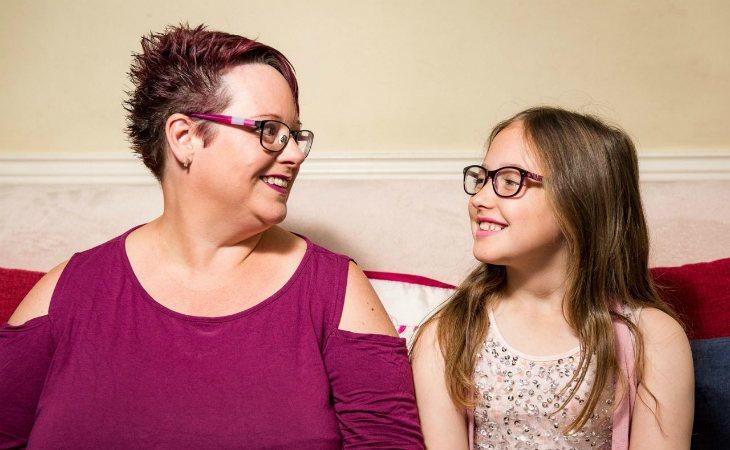 Sharon y su hija