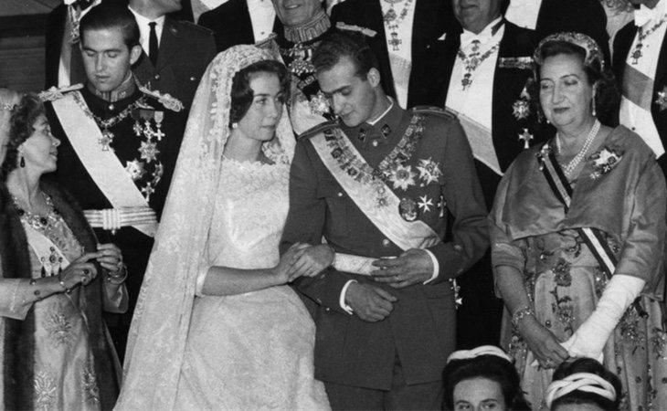 Los reyes eméritos en su boda el 14 de mayo de 1962