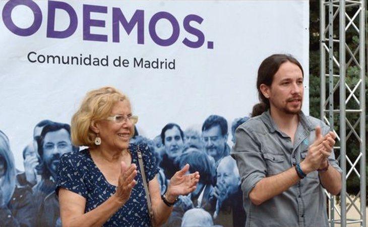 Carmena y Pablo Iglesias en un acto juntos