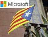 Microsoft se publicita con una estelada en un Congreso en Barcelona y las redes estallan