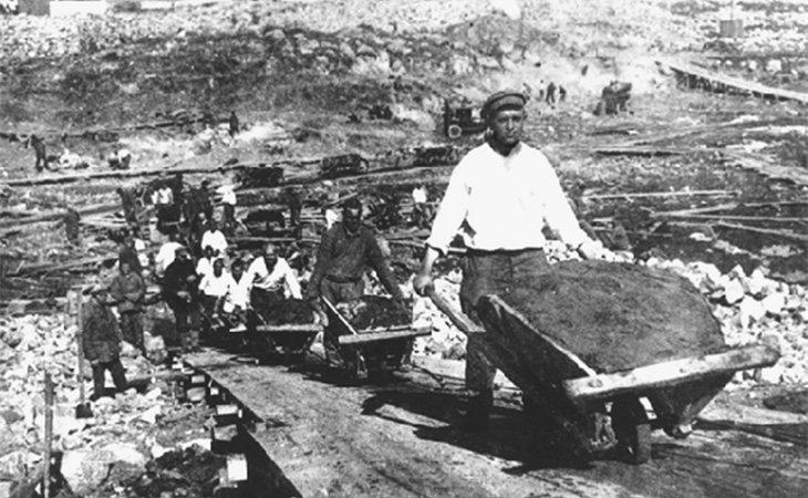 Campo de trabajo en un gulag ruso