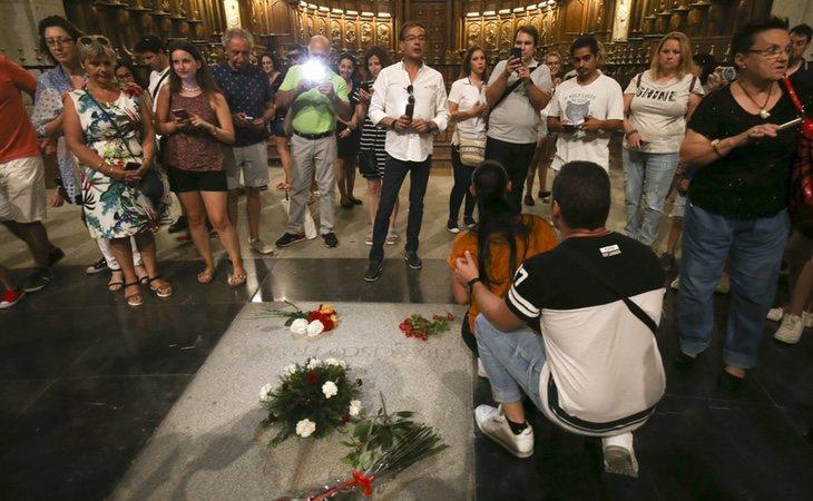 La tumba de Franco en el Valle supone un lugar de peregrinaje fascista