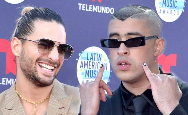 Maluma y Bad Bunny son muy conocidos, sobre todo por sus letras machistas