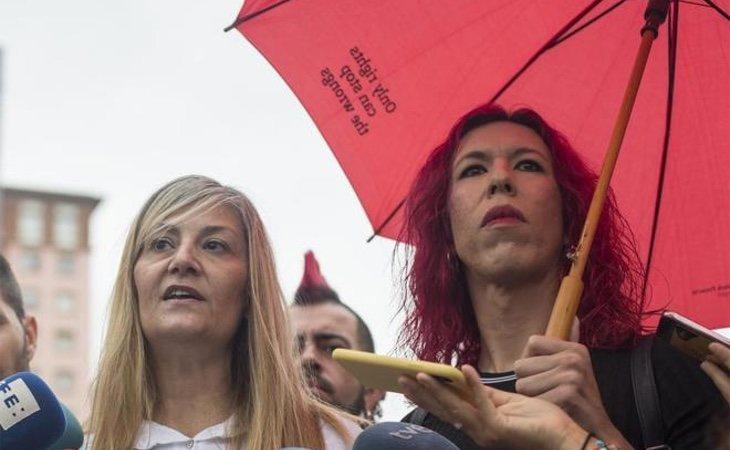 Conxa Borrell y Sabrina Sánchez, dirigentes del sindicato