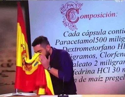 La Justicia imputa a Dani Mateo por sonarse la nariz con la bandera de España