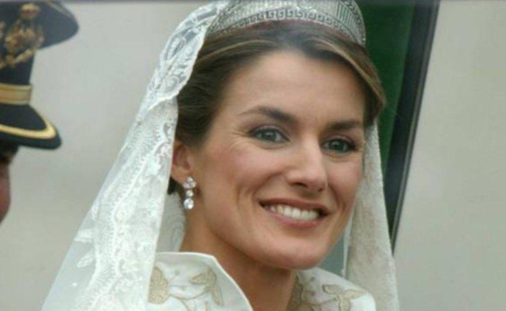 Letizia se casó con felipe en 2004