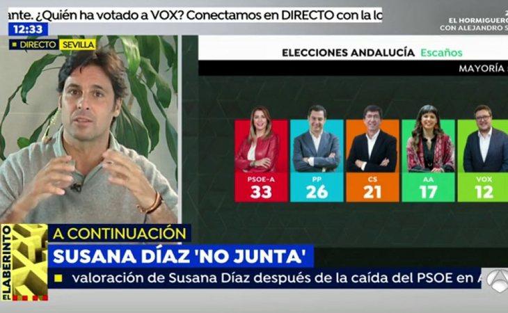 Fran Rivera, durante su análisis de las elecciones andaluzas en 'Espejo público'