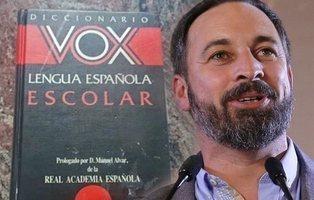 """Diccionario Vox: """"nos toca las narices que exista un partido con el mismo nombre"""""""