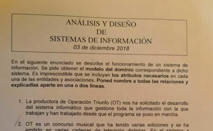 Examen de 4º de Ingeniería de Informática
