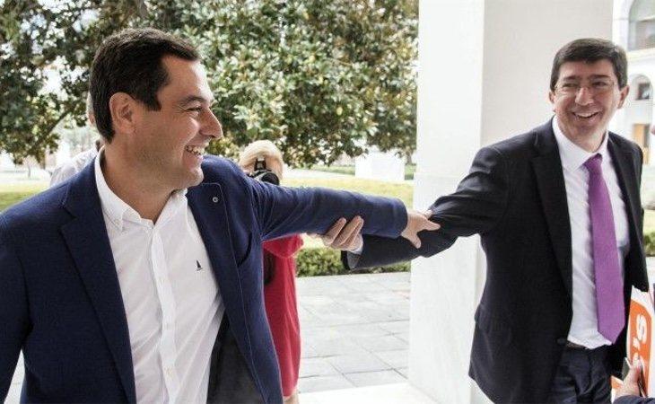 Juan Manuel Moreno (PP) y Juan Marín (Ciudadanos) | ElPlural