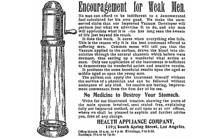 Un anuncio antiguo de una de estas 'bombas de vacío'