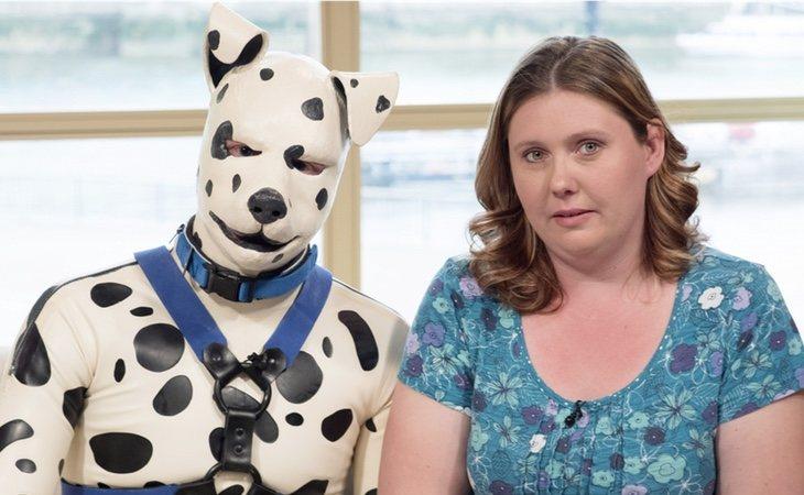 'Spot' y su novia, que lo apoya totalmente, en un programa de televisión